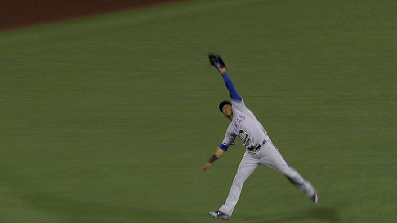 Martin's one-handed leaping grab