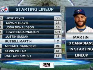 TOR@TB: Canadians make MLB history for Blue Jays