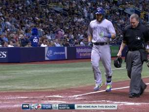 TOR@TB: Martin hits solo homer, gives Blue Jays lead