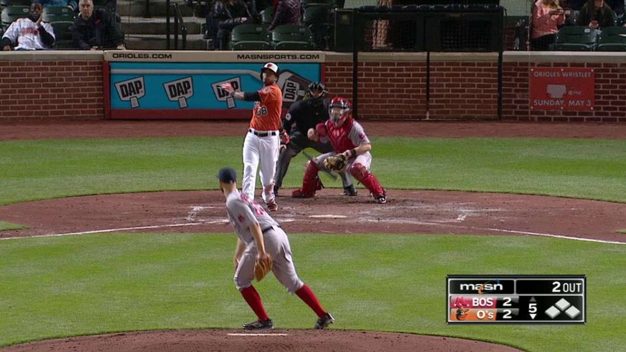 Paredes goes yard