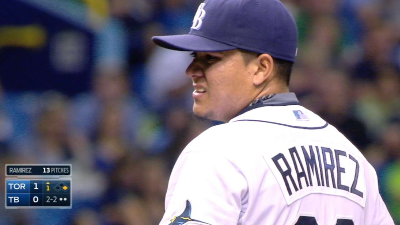 Ramirez's strikeout retires side