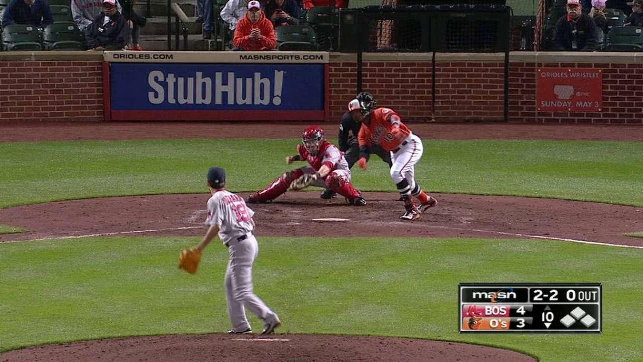 Jones' 10th-inning triple