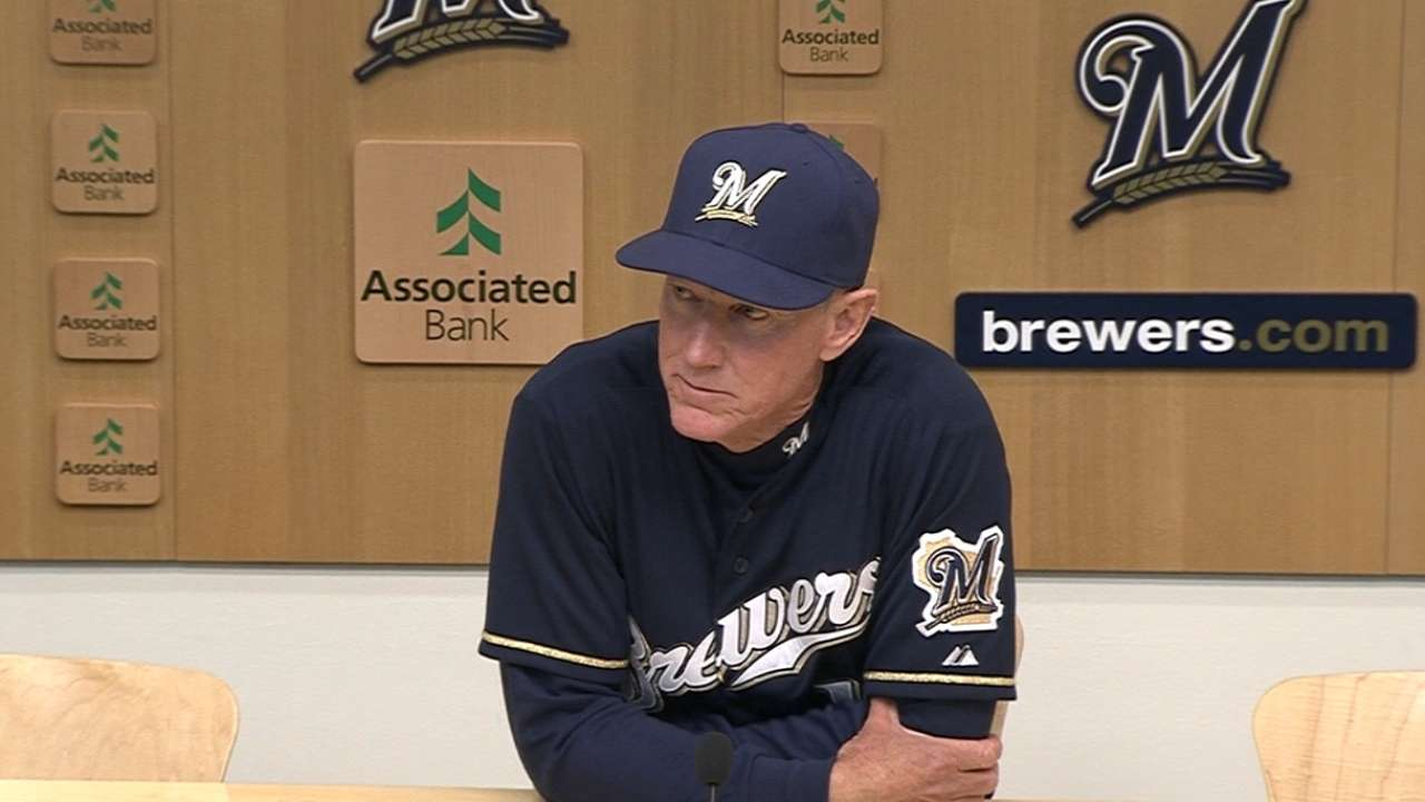 Braun takes responsibility for Brewers' tough start