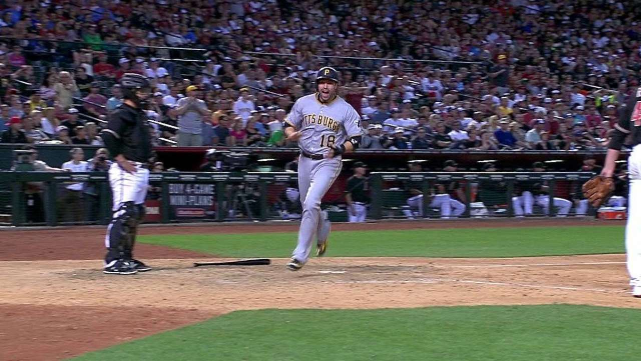 Marte's ninth-inning single lifts Pirates past D-backs