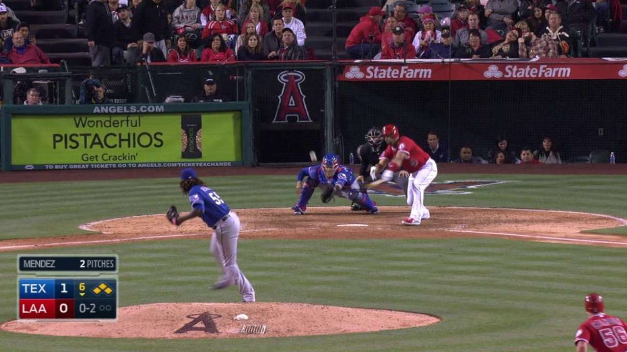 Bases-loaded RBIs from Pujols, Cron put away Rangers
