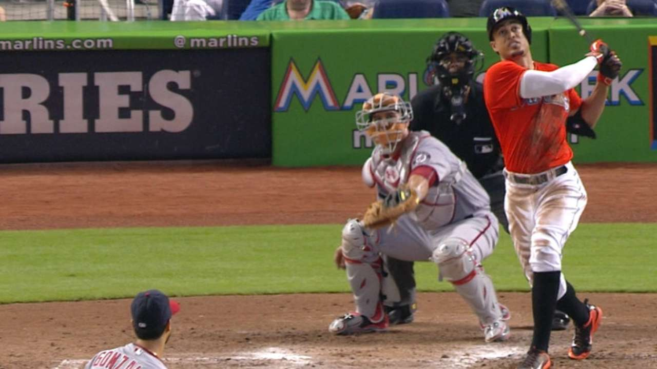 Marlins Park able to contain Stanton's huge triple