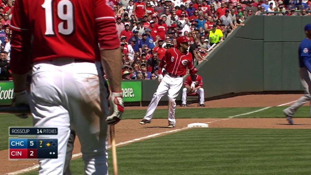 Miscue proves costly for DeSclafani, Reds vs. Cubs