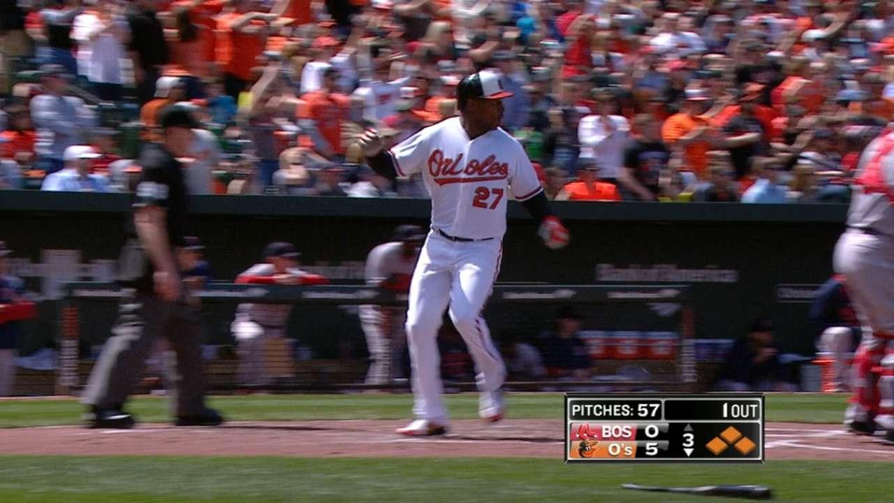 O's make history with 18 runs vs. Red Sox