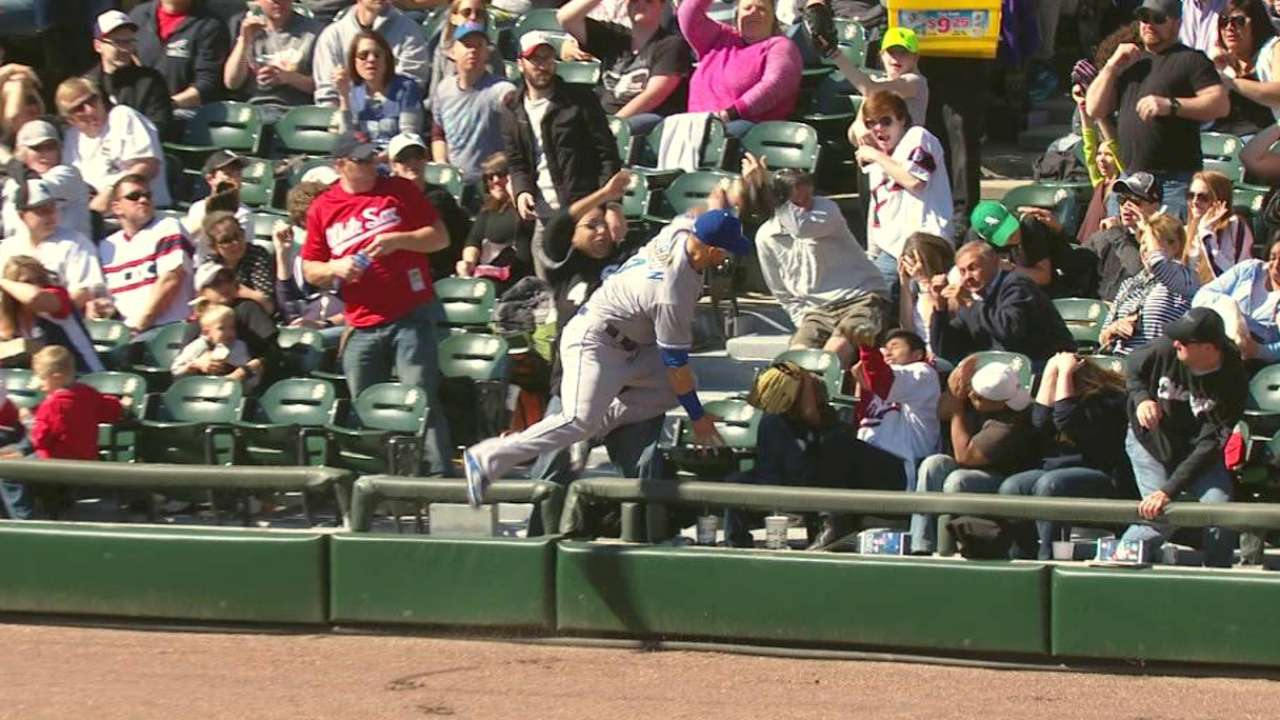 Gordon's leaping catch in stands