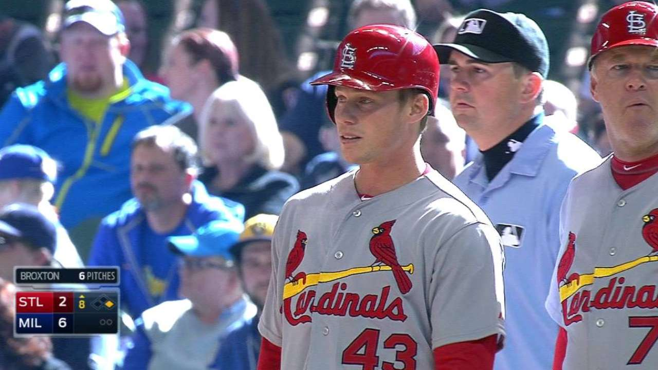 Cards call up Stanley, who gets first big league hit