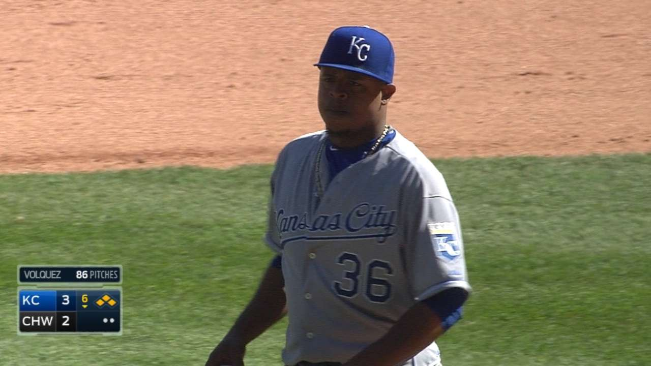 After strong start, one rough inning sinks Volquez, KC