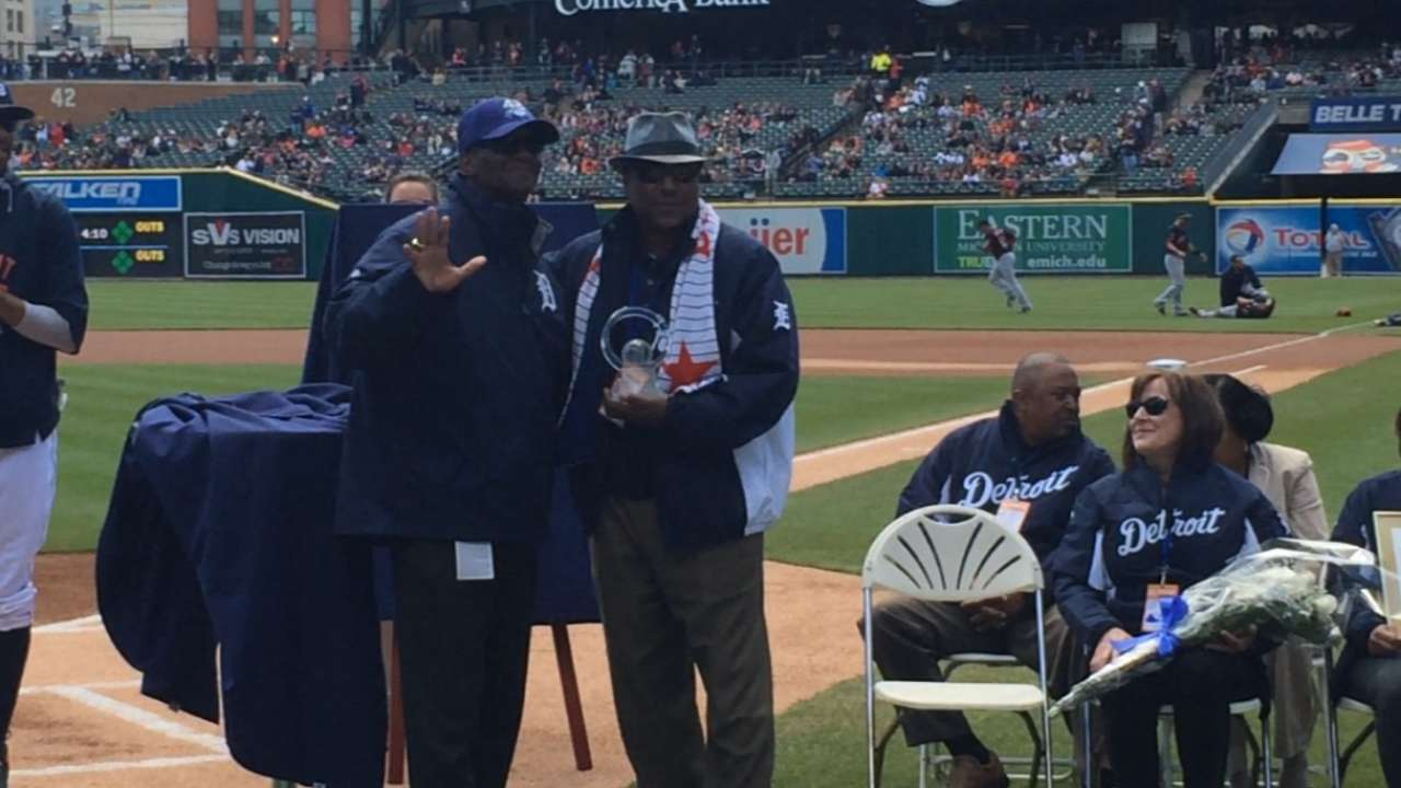 Whitaker honored by Tigers