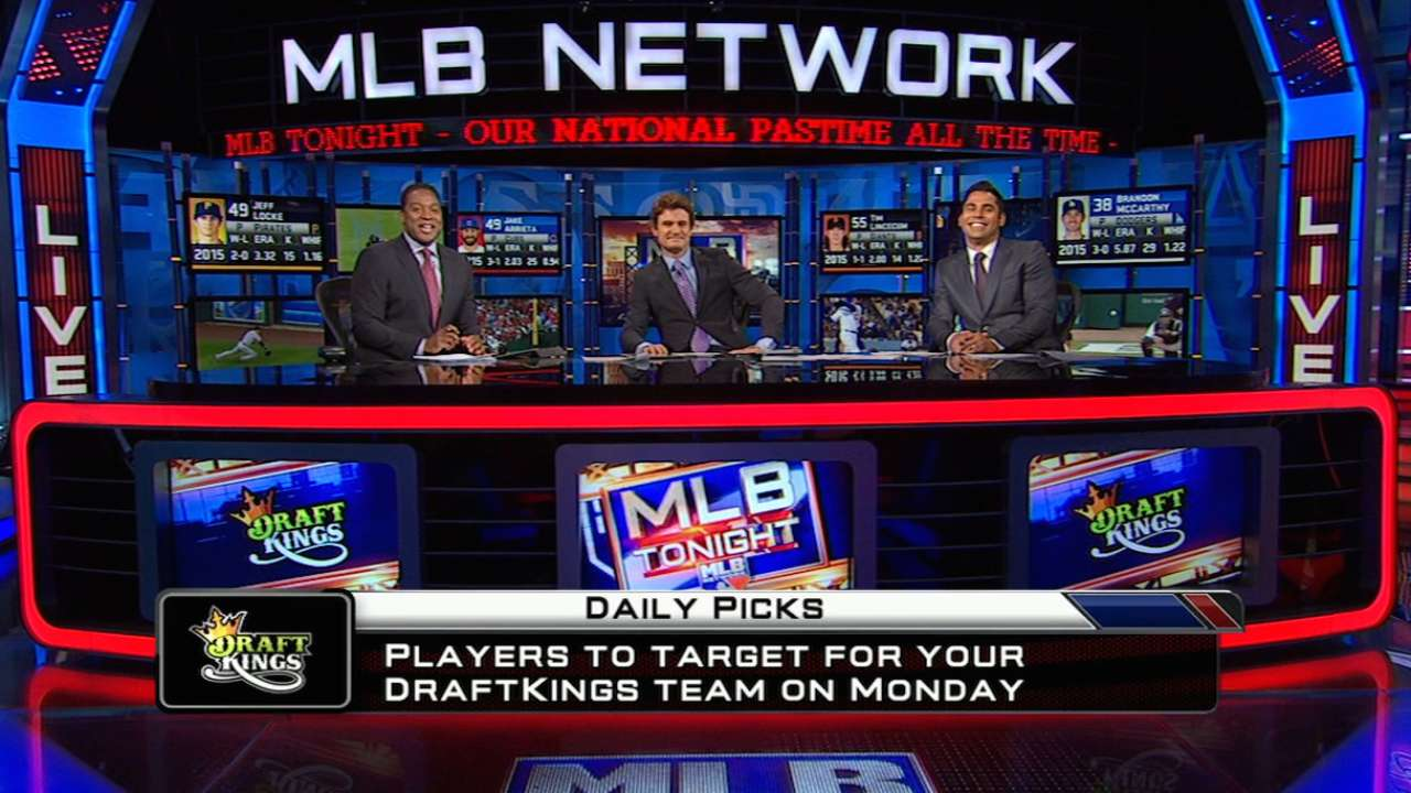 DraftKings picks: Werth, Kluber, Kelly