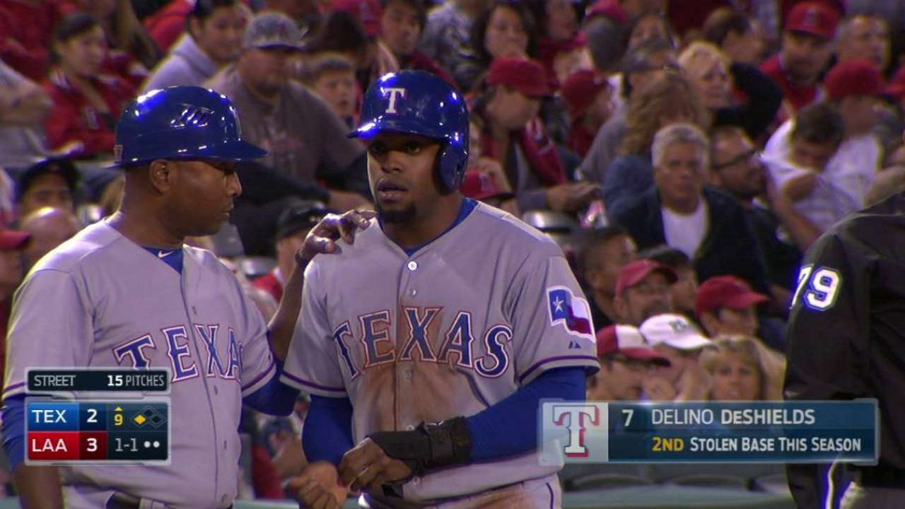 DeShields takes two bases in 9th