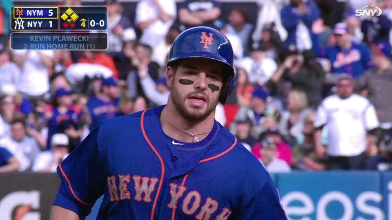 Plawecki's first MLB home run