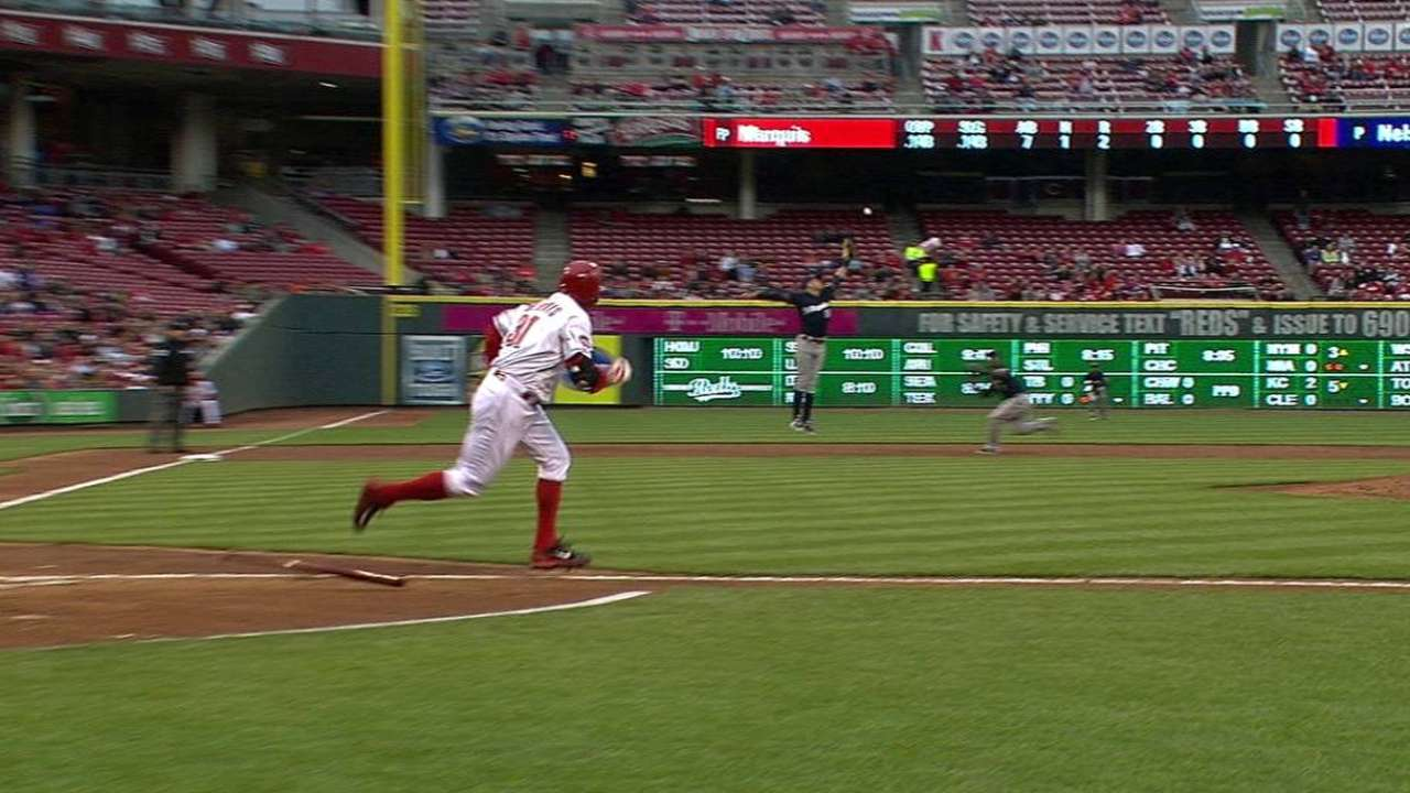 Bruce homers, backs strong Marquis as Reds top Brewers