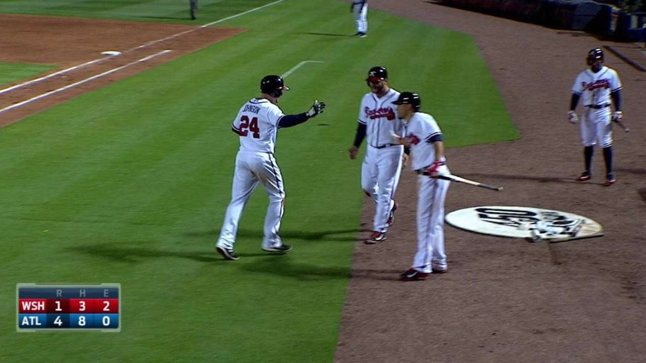 K. Johnson's two-run homer