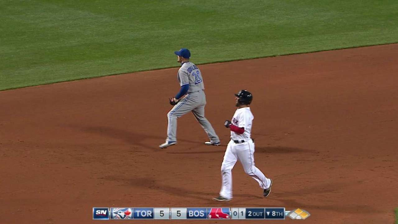 Donaldson robs Nava in the 8th