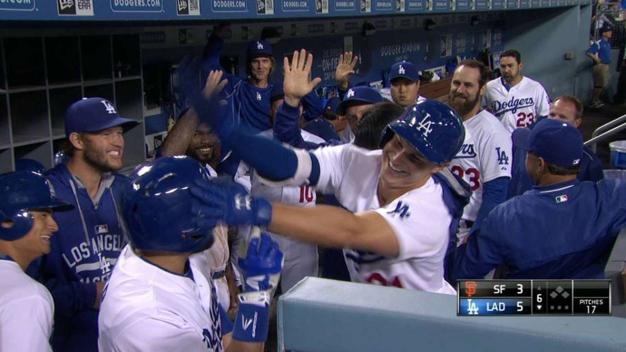 Dodgers keep home mojo working with win vs. Giants