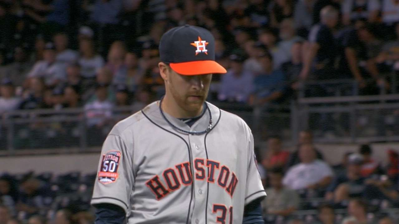 One inning costs McHugh a piece of Astros history