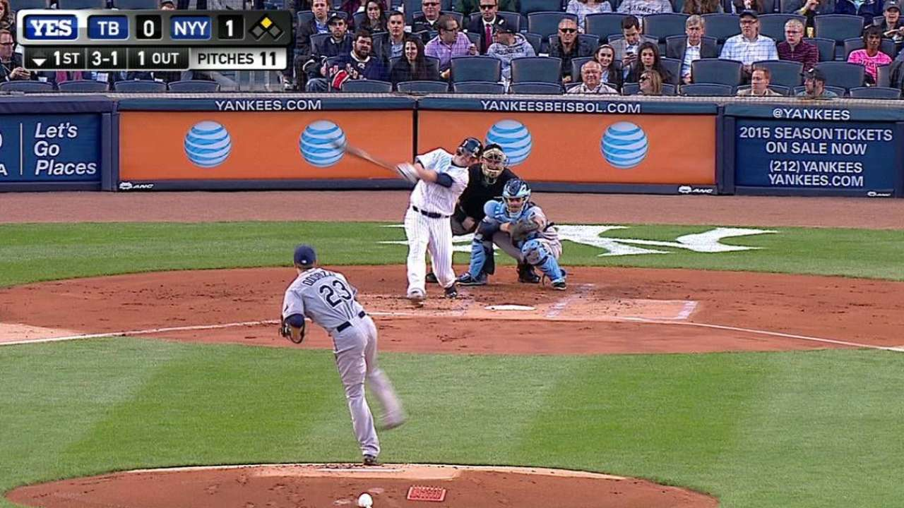 McCann's ownership of Odorizzi continues with 3-RBI night