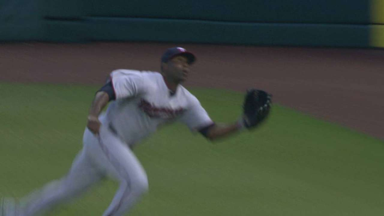 Hunter's diving catch
