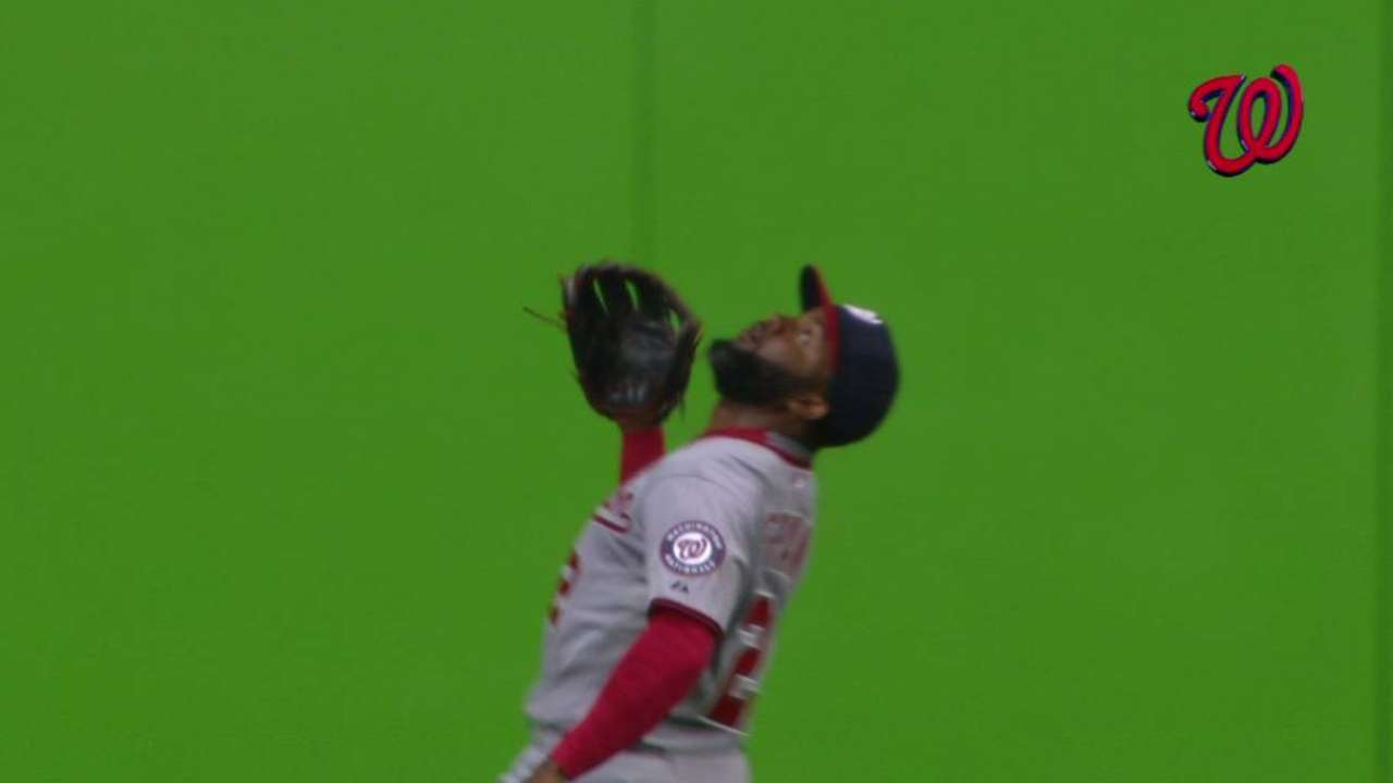 Span's over-the-shoulder catch