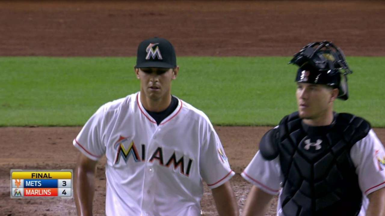 Morse ends RBI slump to send Marlins past Mets