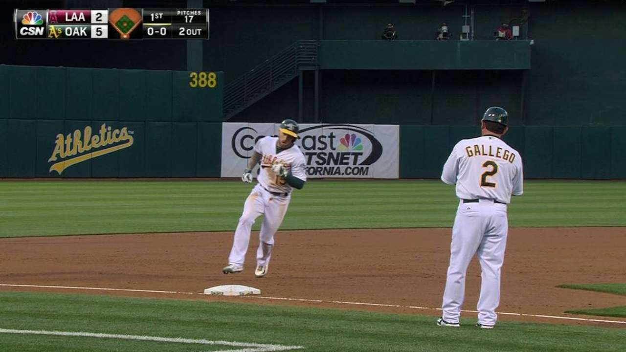 Lawrie's three-run blast