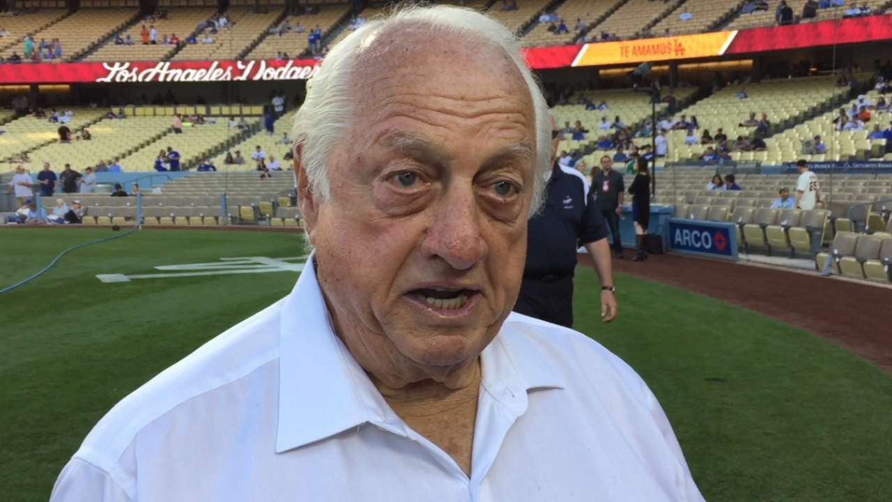 Lasorda reacts to Gibson news