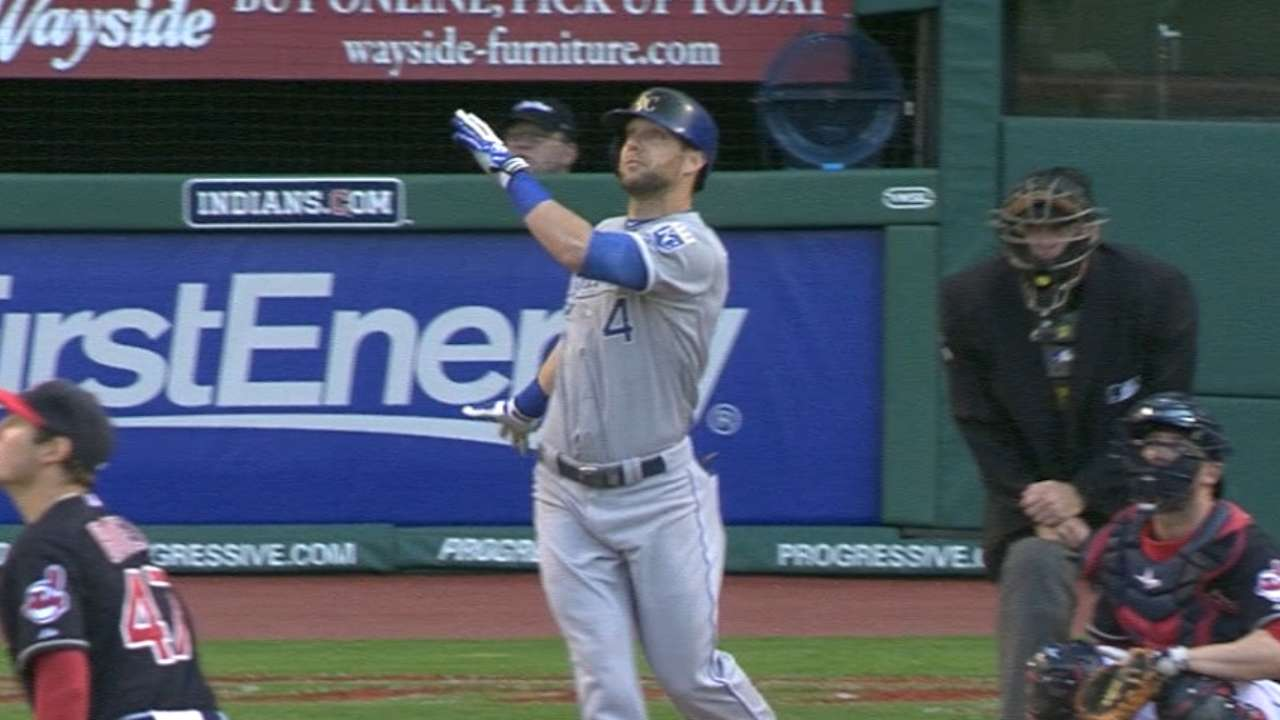 Royals come alive with six-run seventh to rout Tribe