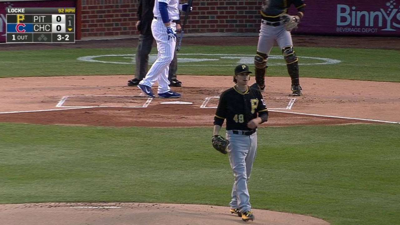 Locke bemoans lack of execution in loss to Cubs
