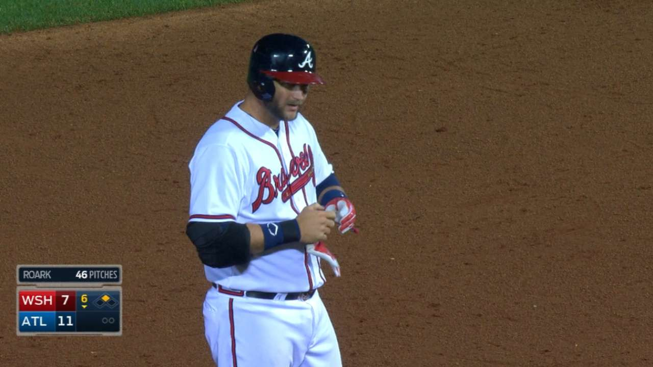 Braves manager's proof is in Pierzynski's play