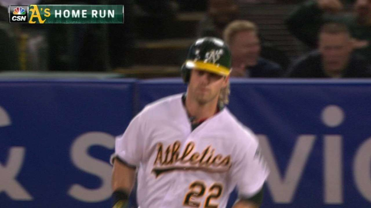 Reddick, Lawrie boost A's with strong bats