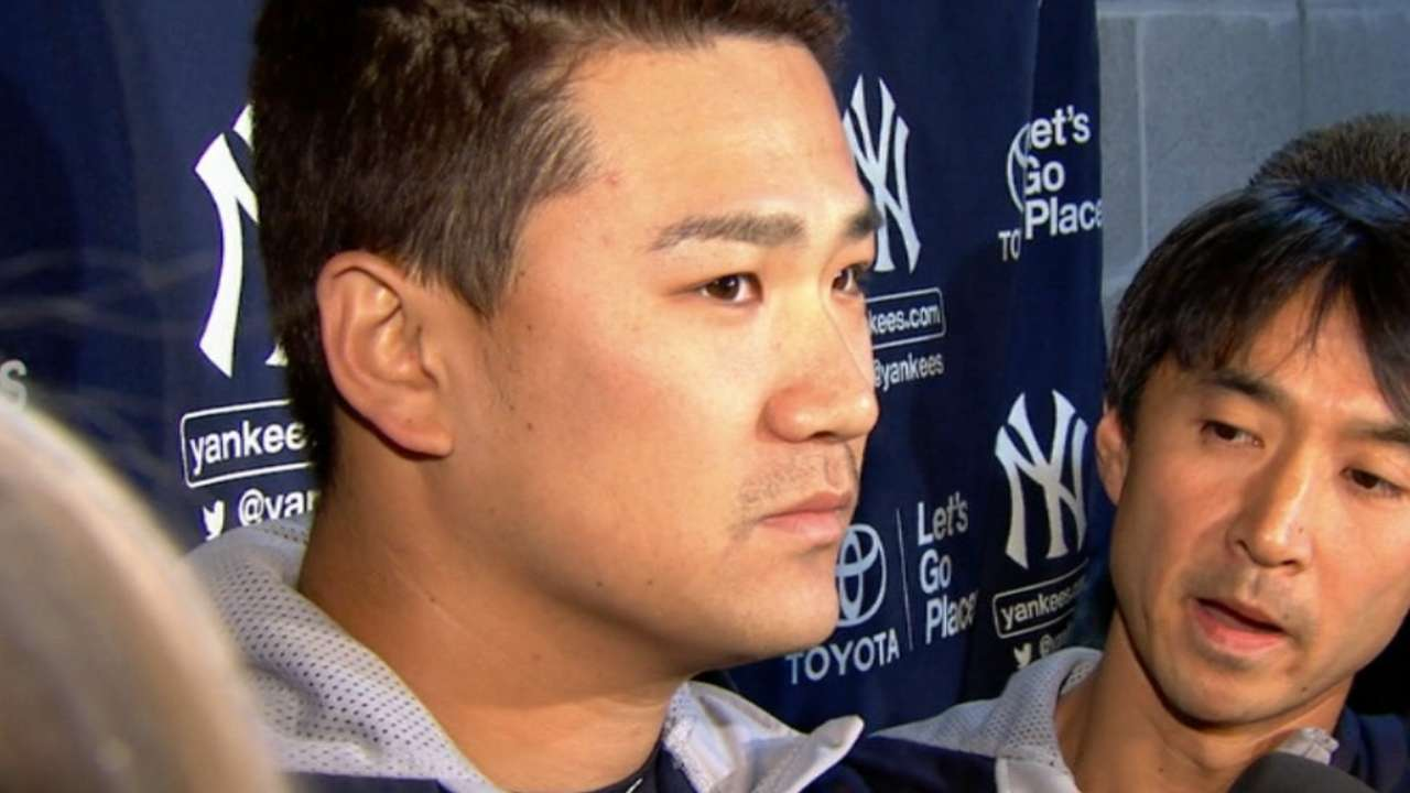 Tanaka out at least month with wrist tendinitis, forearm strain