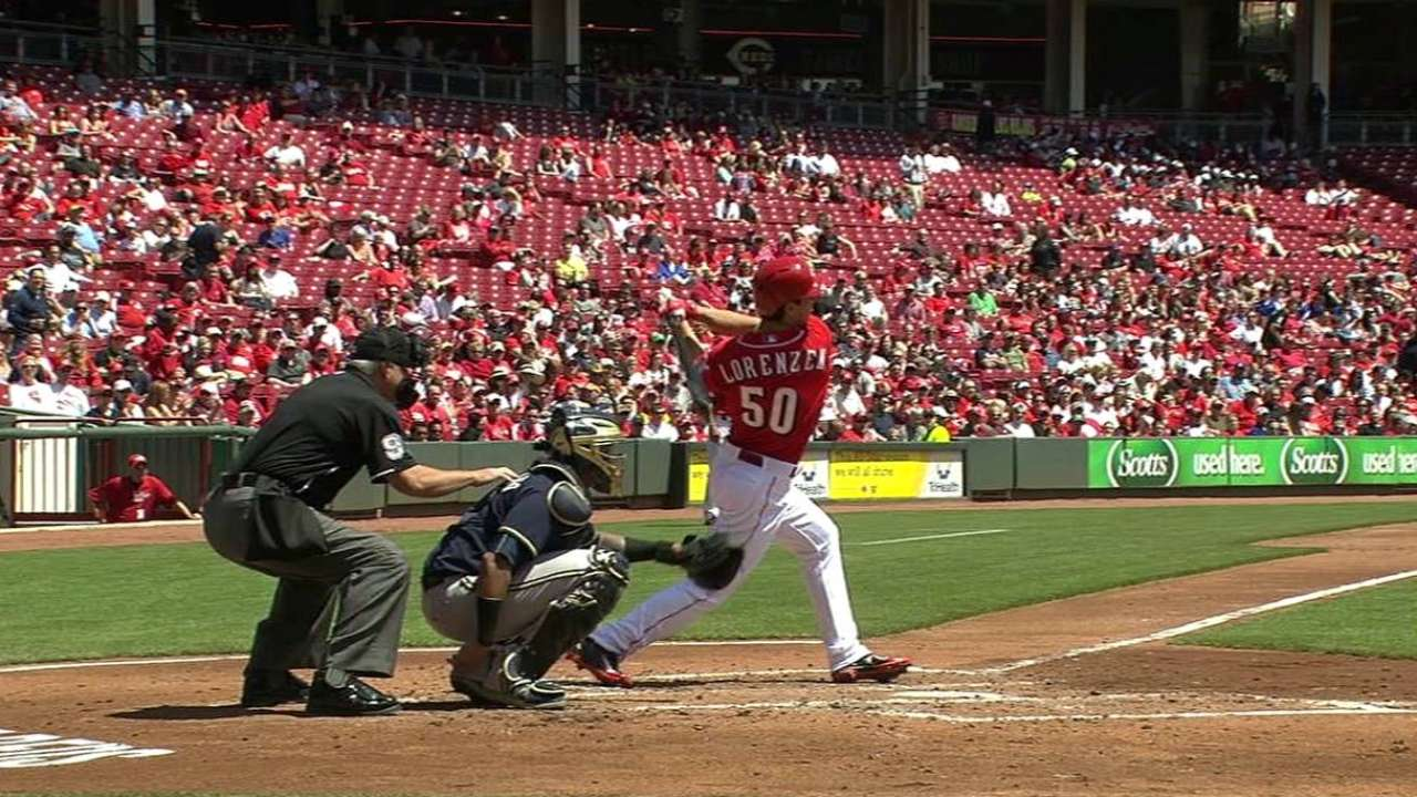 Lorenzen's first career hit