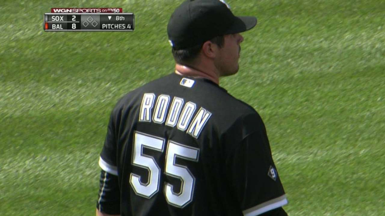 Rodon fans Joseph in 8th