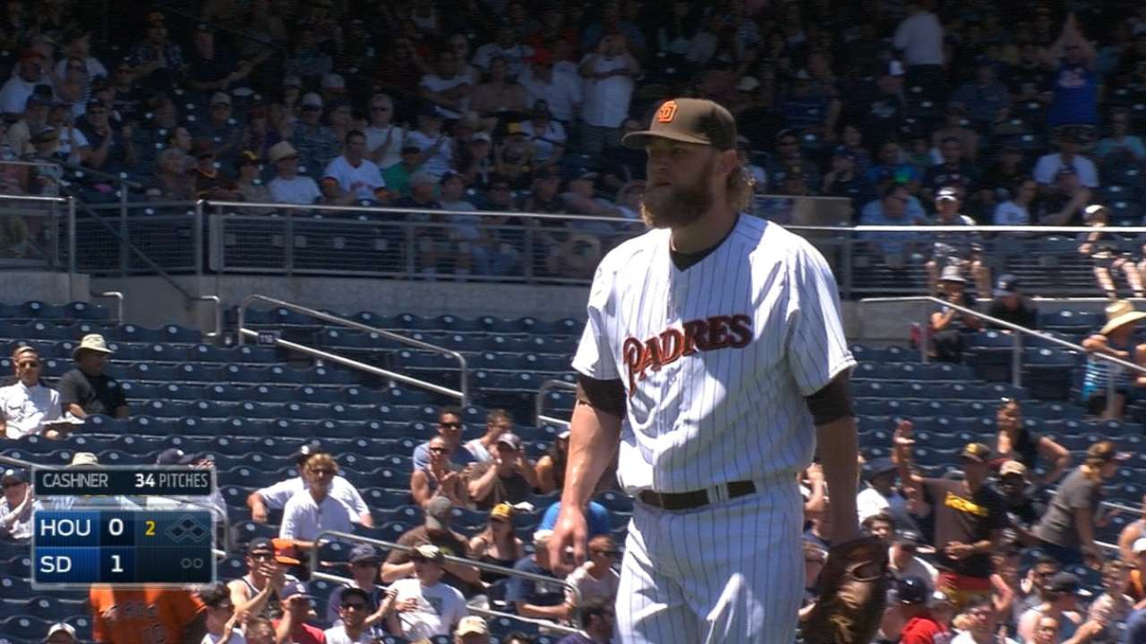 Cashner opens game with six K's