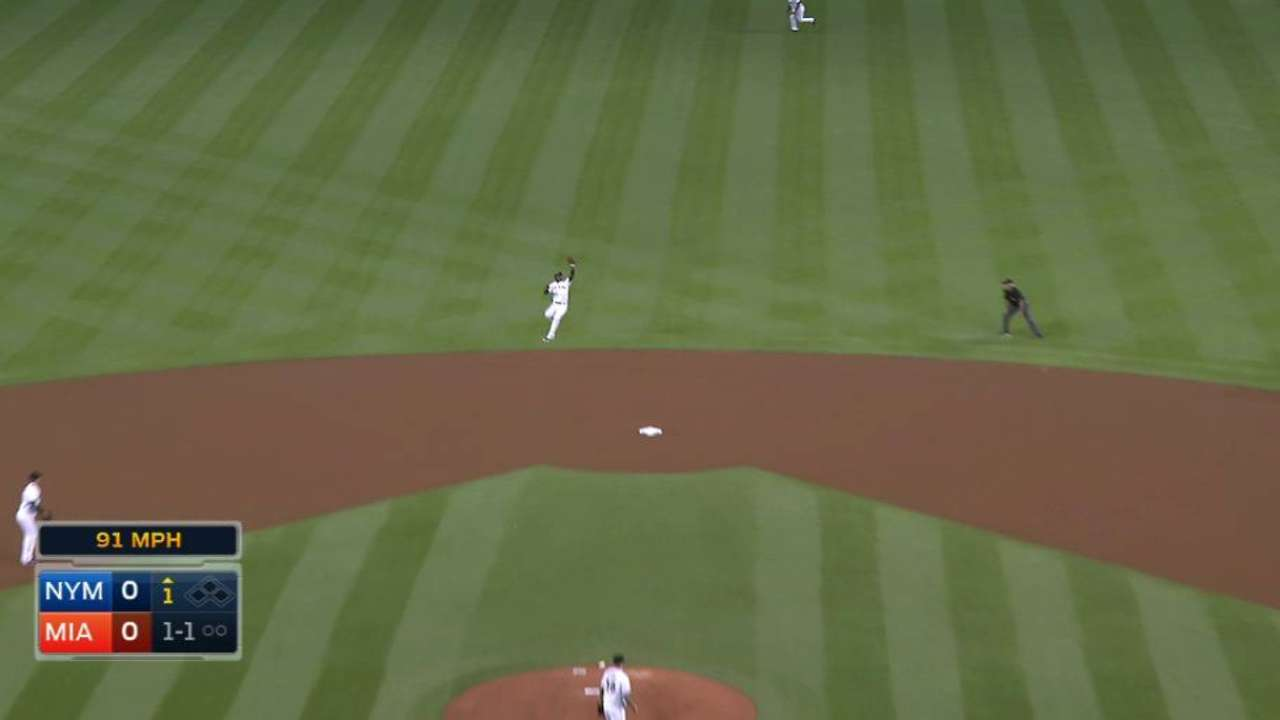 Hechavarria's leaping catch