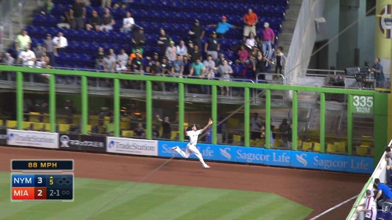 Stanton's running catch