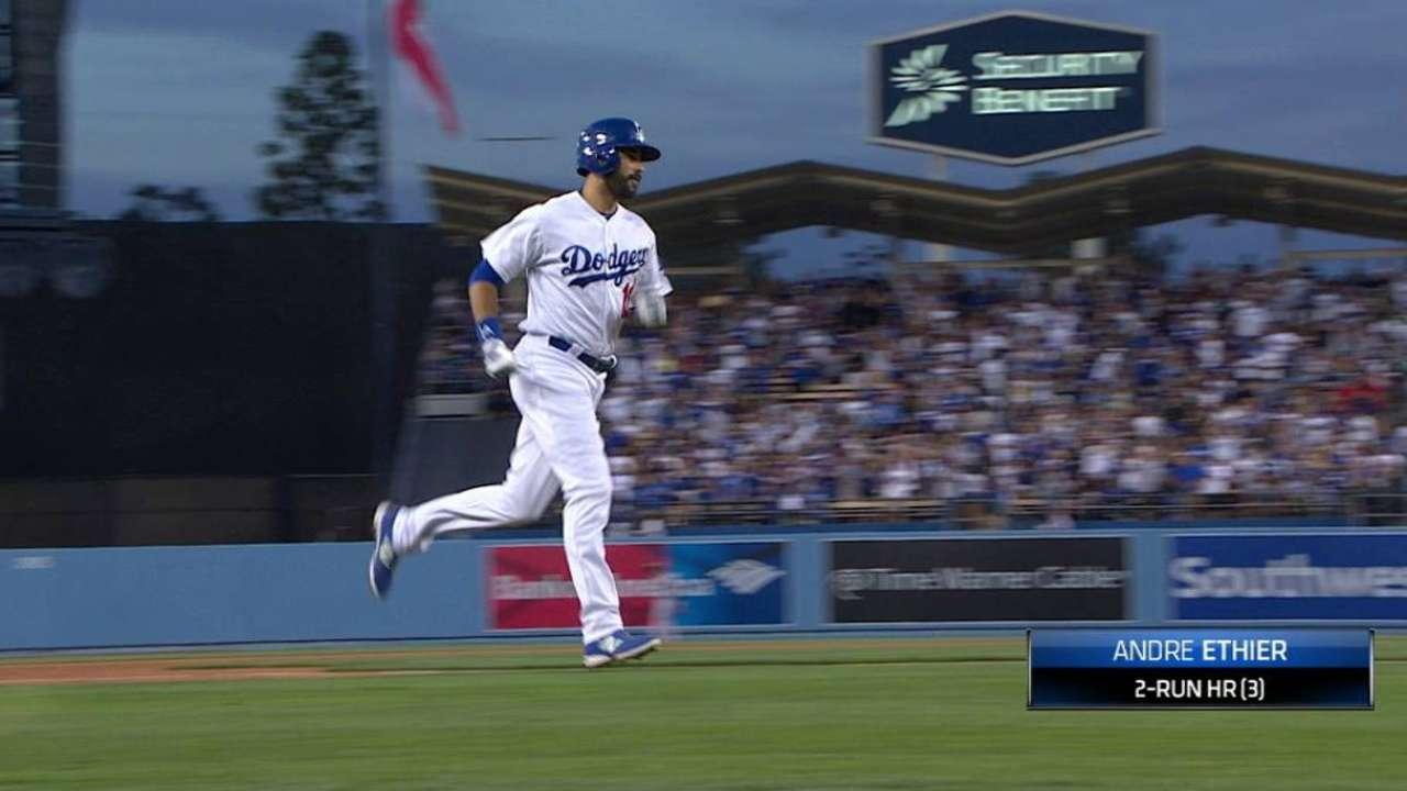 Ethier's two-run home run