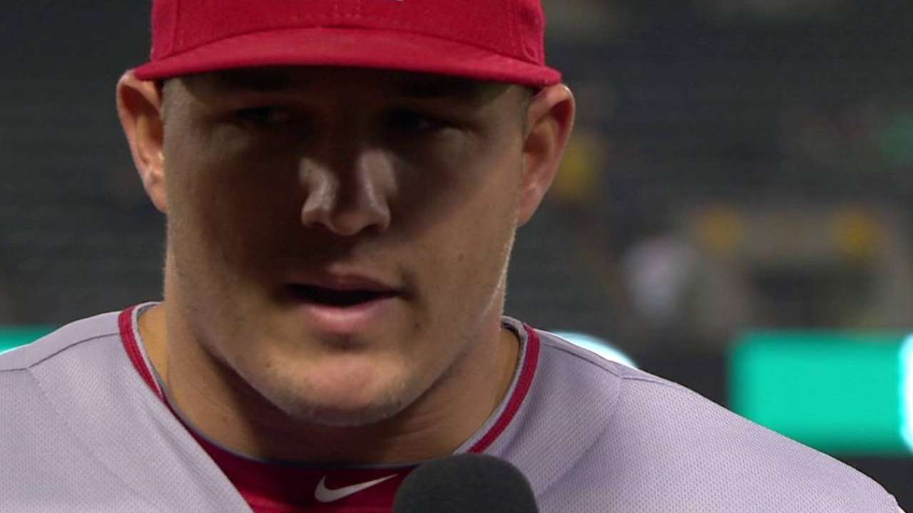 Trout on win over A's