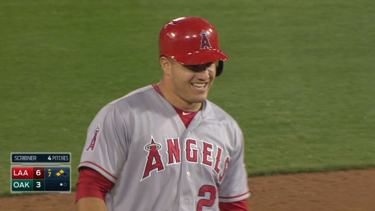 Trout's bat comes to life as Angels take down A's