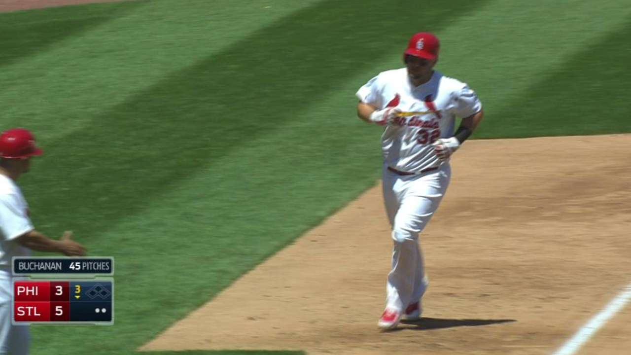 Adams' two-run homer