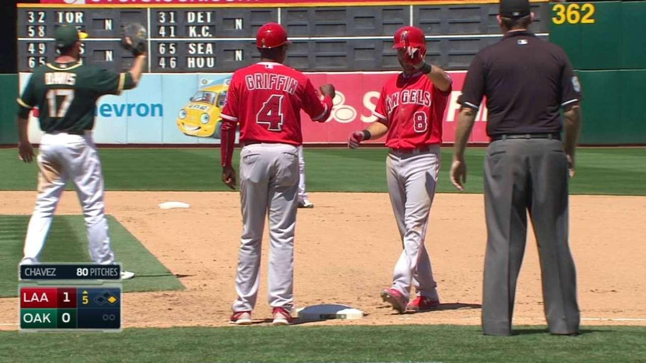 Featherston's first MLB hit