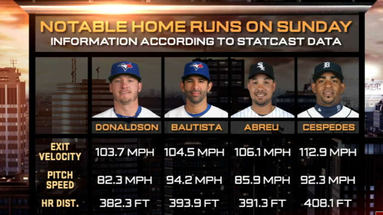 Statcast hits home run replays out of the park