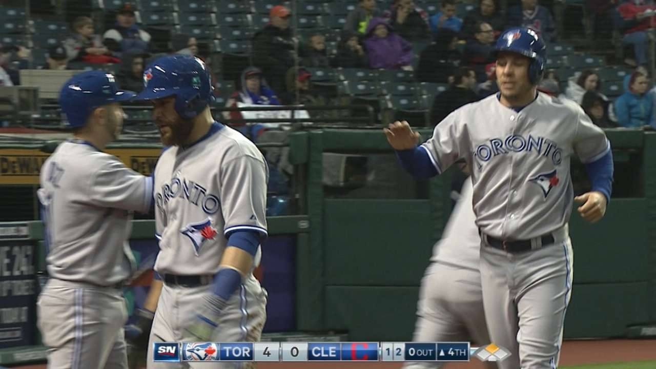 Big fourth inning sends Blue Jays past Indians