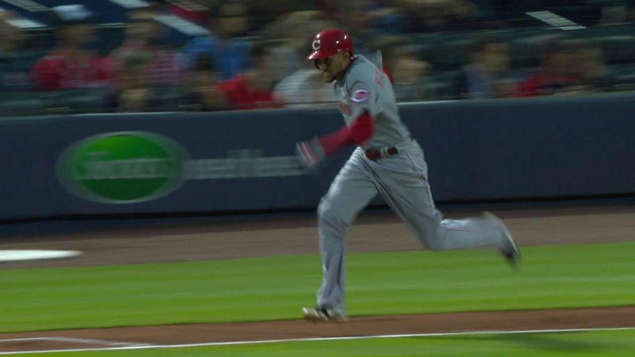 Hamilton reaches on passed ball