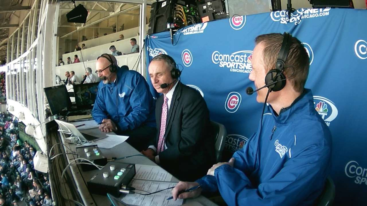 Manfred talks pace of play, ASG at Wrigley