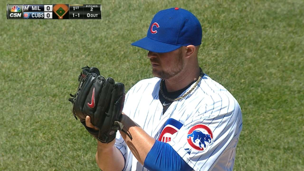 Lester's first Cubs win a 'big day'